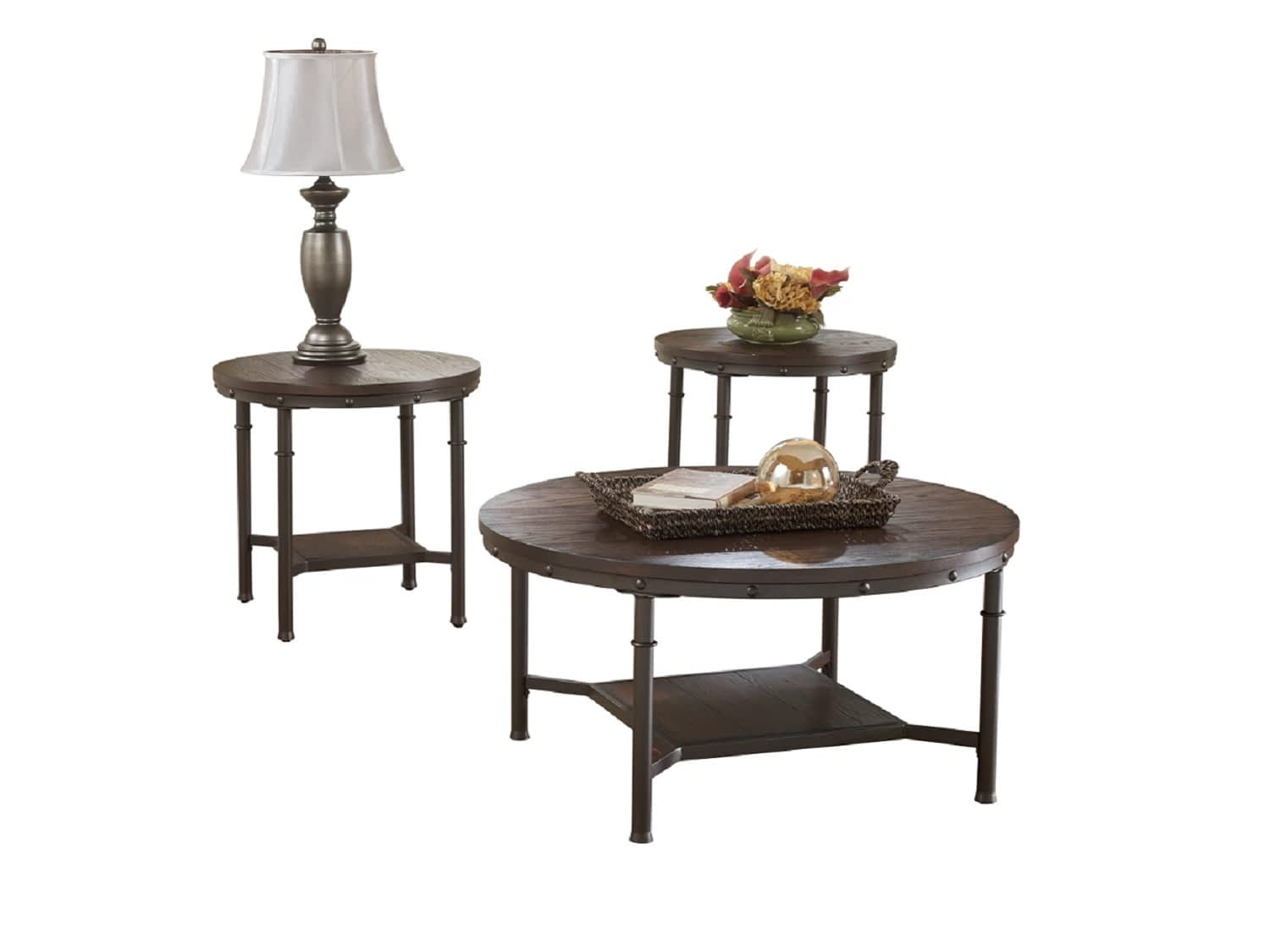 - SANDLING Coffee Table & 2 End Tables THEMES Furniture HomeStore