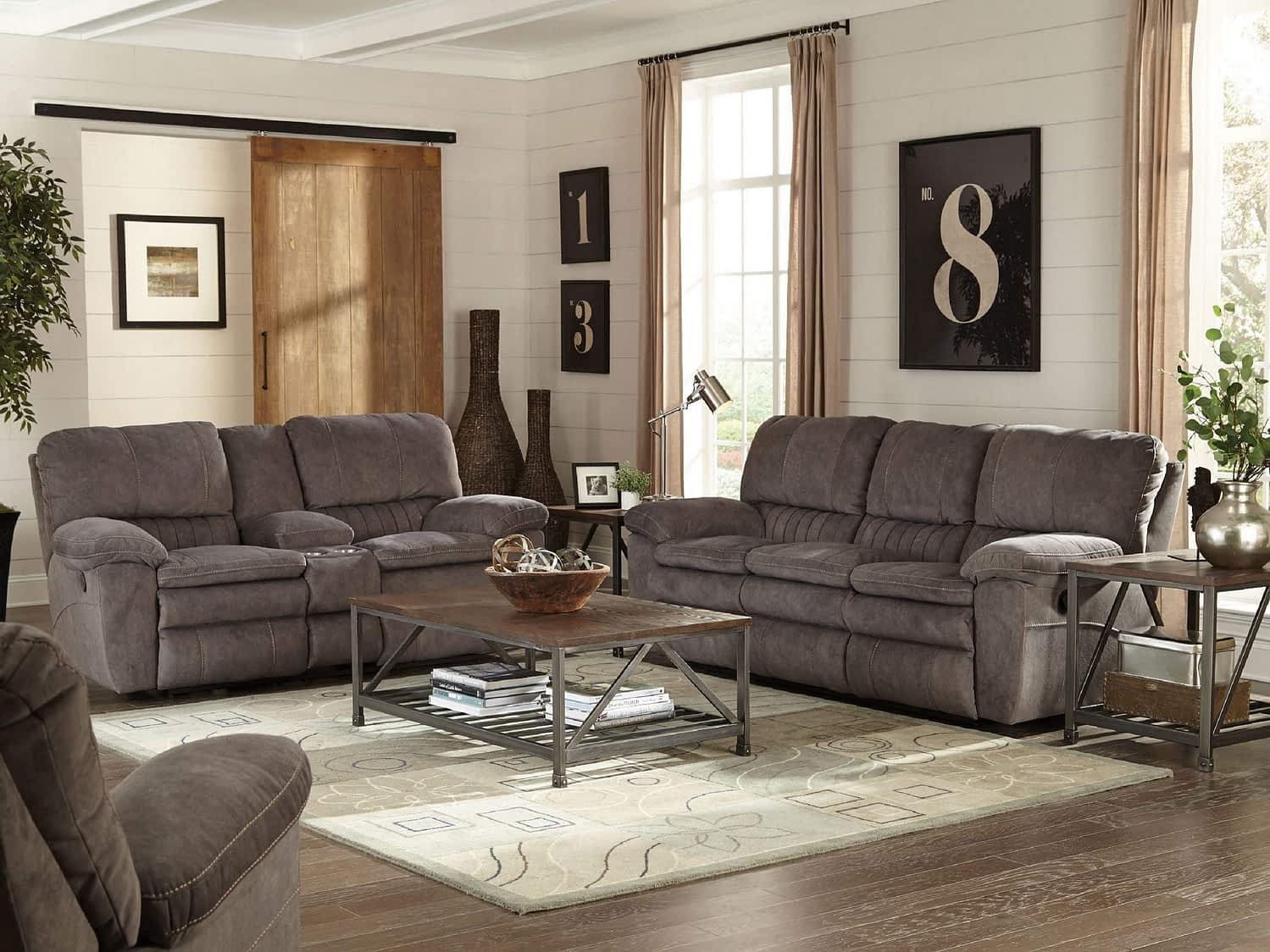 ZOLA Reclining Sofa & Love-seat with Console